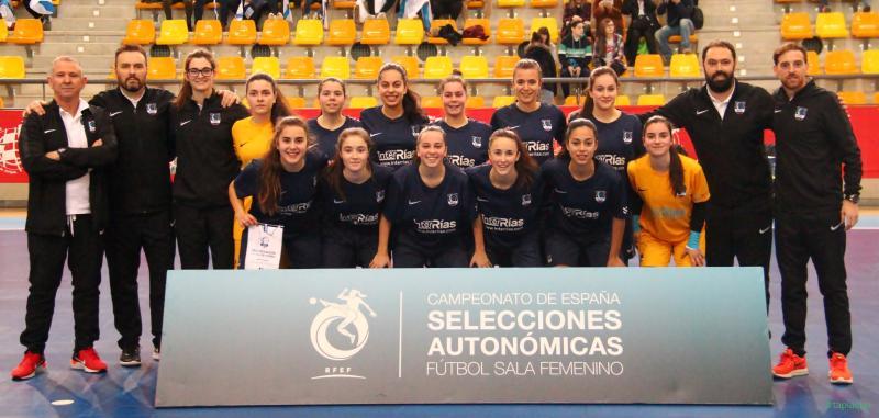 b1d31f9a6b Galicia métese de forma brillante a final do Nacional S20 feminino de  futsal. As galegas derrotaron por 3-0 a Andalucía e este domingo xogarán  polo título ...